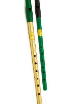 Tin Whistle – Flauta Irlandesa | Brass C + Green D | Feadóg