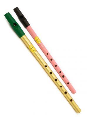 Tin Whistle – Flauta Irlandesa | Brass C + Pink D | Feadóg