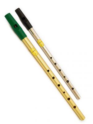 Tin Whistle – Flauta Irlandesa | Brass C + Nickel D | Feadóg