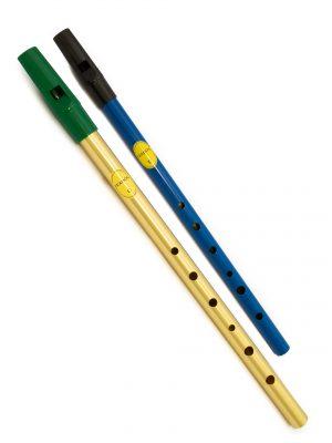 Tin Whistle – Flauta Irlandesa | Brass C + Blue D | Feadóg