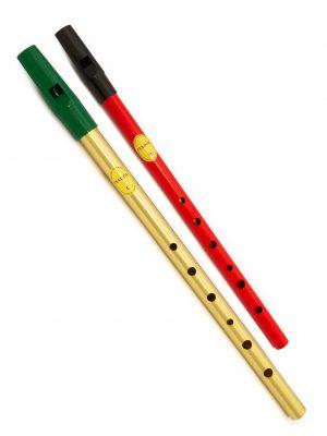 Tin Whistle – Flauta Irlandesa | Brass C + Red D | Feadóg